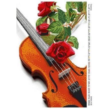 """Схема для вишивки бісером """"Скрипка"""""""
