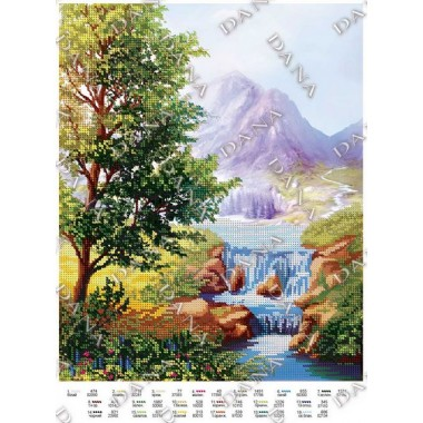 """Схема для вишивки бісером """"Альпійський краєвид"""""""