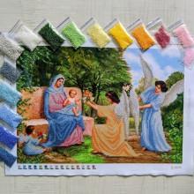 N-0098 Марія з немовлям і ангелами. Набір з бісером