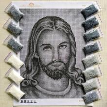 N-0185 Ісус (срібло). Набір з бісером