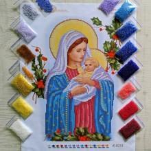 N-0281 Мадонна з немовлям (шипшина). Набір з бісером