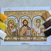 N-0610 Іконостас (золото) А3. Набір з бісером