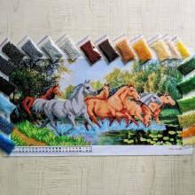 NW-282 Табун коней. Набір з бісером
