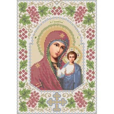 R-0015 Казанська ікона Божої Матері А4 (калина) (варіант 3). Схема вишивки