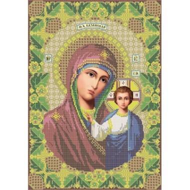 R-0017 Казанська ікона Божої Матері А3 (дубове листя). Схема вишивки