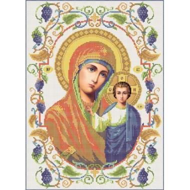 R-0063 Казанська ікона Божої Матері А3 (виноград)