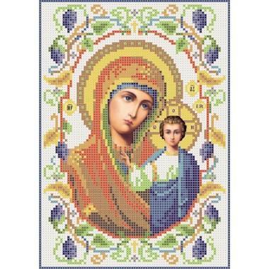R-0067 Казанська ікона Божої Матері А5 (виноград)