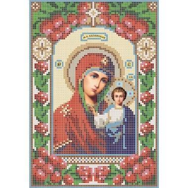 R-0102 Казанська ікона Божої Матері А5 (калина)