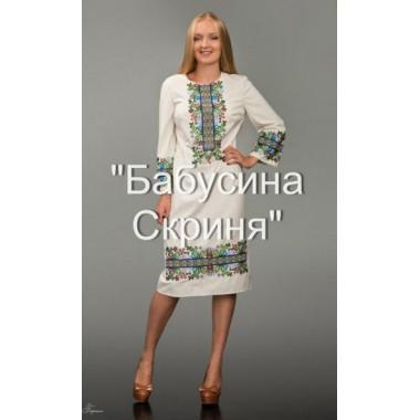 """Заготовка сукні з нанесеним малюнком під вишивку """"Борщівська"""" (святкова)"""