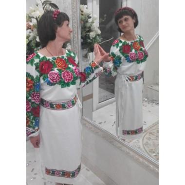 """Заготовка сукні з нанесеним малюнком під вишивку """"Буковинська святкова"""""""