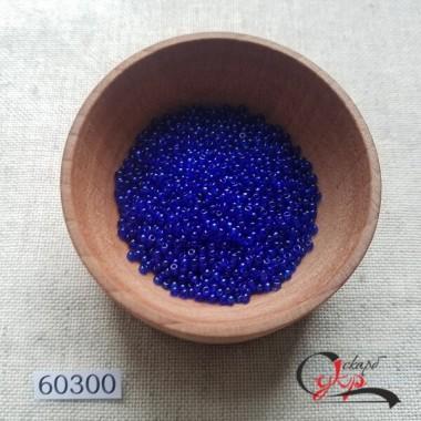 Чеський бісер Preciosa №60300 (синій, прозорий) 10/0
