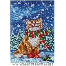"""Схема для вишивки бісером """"Зимній кіт"""""""