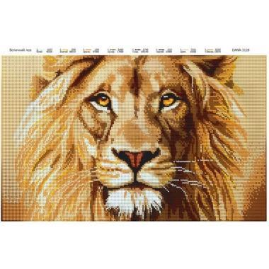 """Схема для вишивки бісером """"Величний лев"""""""