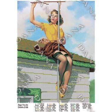 """Схема для вишивки бісером """"Леді Пін-Ап"""""""