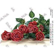"""Схема для вишивки бісером """"Бордові троянди"""""""