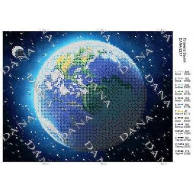 """Схема для вишивки бісером """"Планета Земля"""""""