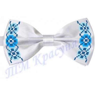 """Краватка-метелик під вишивку бісером """"Синій орнамент"""""""