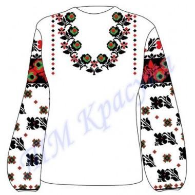 """Заготовка для жіночої блузки """"Незвичайний квітковий орнамент"""""""