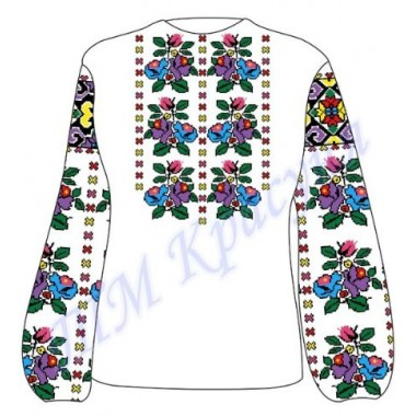 """Заготовка для жіночої блузки """"Загадкові квіти"""""""