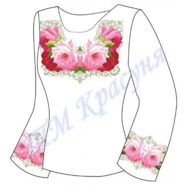 """Заготовка для жіночої блузки """"Пишний цвіт троянд"""""""
