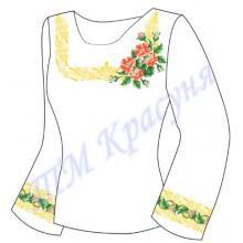 """Заготовка для жіночої блузки """"Шипшина з орнаментом"""""""
