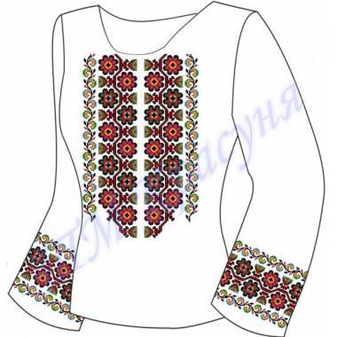 """Заготовка для жіночої блузки """"Давній квітковий орнамент"""""""