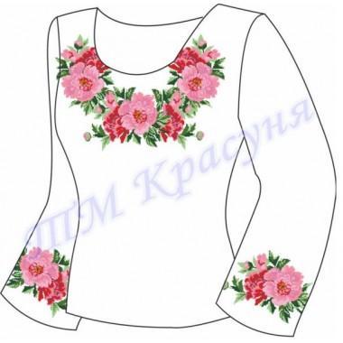 """Заготовка для жіночої блузки """"Яскраві квіти"""""""