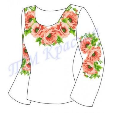 """Заготовка для жіночої блузки """"Пишний цвіт маків"""""""