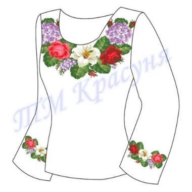 """Заготовка для жіночої блузки """"Літні квіти"""""""