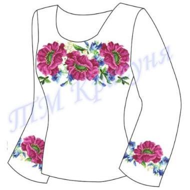 """Заготовка для жіночої блузки """"Пишний цвіт"""""""