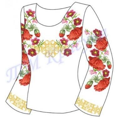"""Заготовка для жіночої блузки """"Пишні квіти та орнамент"""""""