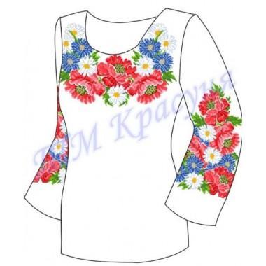 """Заготовка для жіночої блузки """"Краса квітів"""""""