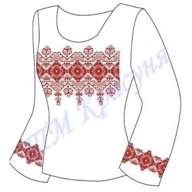 """Заготовка для жіночої блузки """"Невідомий орнамент"""" (червоний)"""