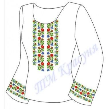 """Заготовка для жіночої блузки """"Орнамент з квітів"""""""