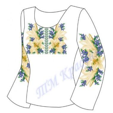 """Заготовка для жіночої блузки """"Білі лілії"""""""