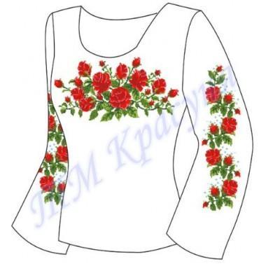 """Заготовка для жіночої блузки """"Троянди"""""""
