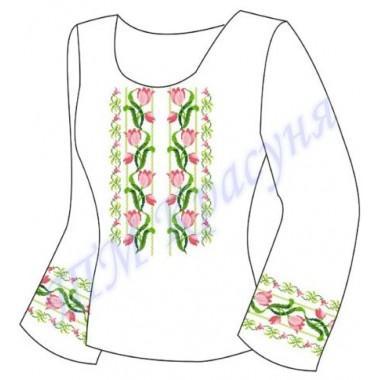 """Заготовка для жіночої блузки """"Переплетені квіти"""""""
