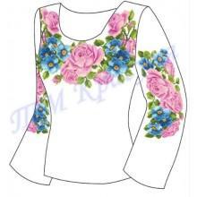 """Заготовка для жіночої блузки """"Троянди і фіалки"""""""