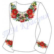 """Заготовка для жіночої блузки """"Цвіт шипшини"""""""