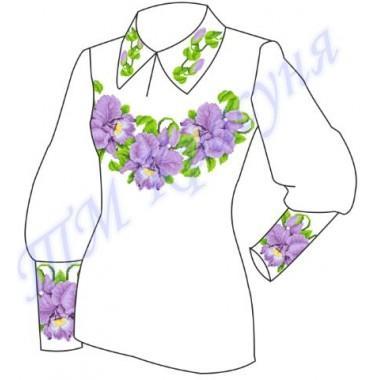 """Заготовка для жіночої блузки """"Орхідеї"""""""