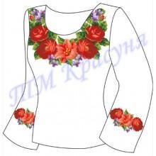 """Заготовка для жіночої блузки """"Троянди з ліліями"""""""