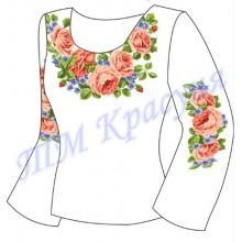 """Заготовка для жіночої блузки """"Троянди і незабудки"""""""