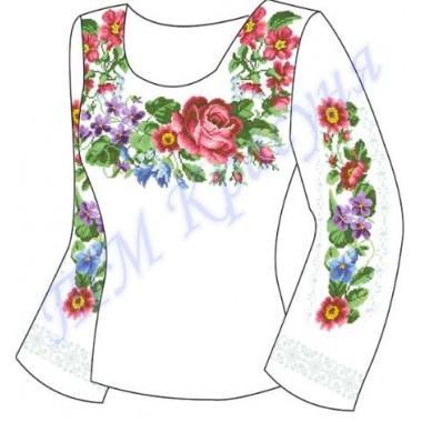 """Заготовка для жіночої блузки """"Весняні квіти"""""""