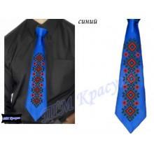 """Заготовка чоловічого галстука під вишивку бісером """"Червоно-чорний орнамент"""" (чорний)"""