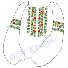 """Заготовка дитячої блузки під вишивку """"Орнамент з квітів"""""""