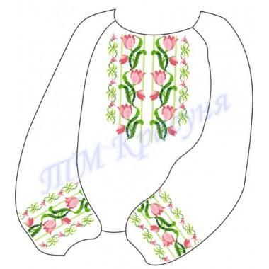 """Заготовка дитячої блузки під вишивку """"Переплетені квіти"""""""