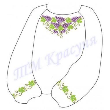 """Заготовка дитячої блузки під вишивку """"Переплетений виноград"""""""
