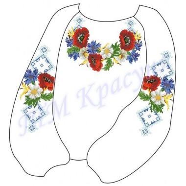 """Заготовка дитячої блузки під вишивку """"Дари літа в орнаменті"""""""