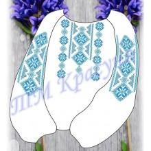 """Заготовка дитячої блузки під вишивку - орнамент """"Восьмикутна зірка"""" (блакитно-синя)"""