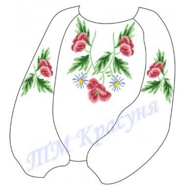 """Заготовка дитячої блузки під вишивку """"Чарівні квіти"""""""